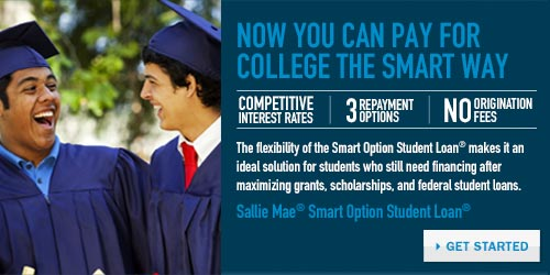 Pay for College the Smart way with Sallie Mae - Banner
